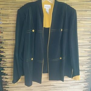 Black Gold Tailored Blazer 26W Plus